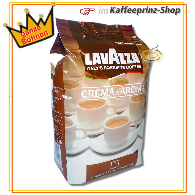 lavazza crema e aroma kaffeebohnen 1kg ganze bohnen gastropackung ebay. Black Bedroom Furniture Sets. Home Design Ideas